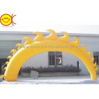 Wholesale 5m Yellow Sun Shape Oxford Fabric Inflatable Giant Arch With Blower For Event from china suppliers