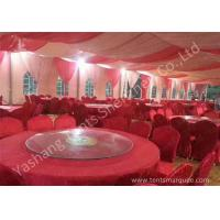 Quality Popular Red Color 20m Width Luxury Wedding Party Tent Marquee with Top and Wall Curtains for sale