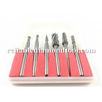 Wholesale Double Cut Tungsten Solid Carbide Drill Bits Rotary Diamond Dental Burs Set 3mm Shank Fit Dremel from china suppliers