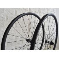 Wholesale 650b 27.5 Inch Tubeless Carbon Wheelset , Carbon Fiber Cycling Wheels Black Color from china suppliers