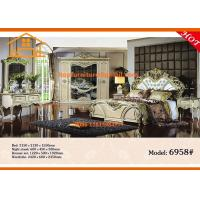 Buy cheap antique luxury Cheap mirrored glass queen bedroom furniture set from wholesalers