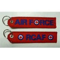 Wholesale Air Force RCAF Motorcycle Keychain Red Edge Embroidery from china suppliers