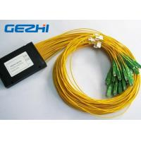 Wholesale LAN / WAN Mini Module Fiber Optic PLC Splitter blockless 0.9mm with SC / UPC Connector from china suppliers
