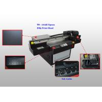Quality Four Color Flatbed UV Leather Ultraviolet Printer , Automatic Leather Printing Machine for sale