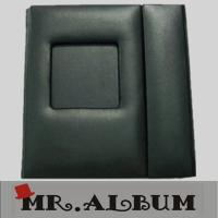 Wholesale Black leather double CD case with magnet and window from china suppliers