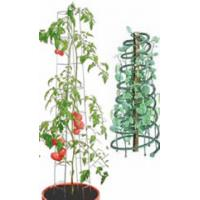 Two tomato towers in green PVC steel and galvanized steel