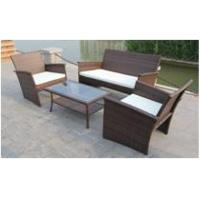 Wholesale Nice 4PCS All Weather Rattan Garden Furniture Outdoor Resin Wicker Sofa Set from china suppliers