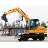 Wholesale Mini wheel Excavator , Hydraulic Crawler Excavator Low Fuel Consumption from china suppliers