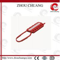 Wholesale New Design 65mm  Mini  Red  Nylon Safety  Lockout Hasp For  Lock from china suppliers