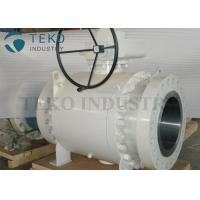Wholesale Worm Gear Operated Flanged Ball Valve  /  Trunnion Mounted Three Piece Ball Valve 150~2500Lb from china suppliers