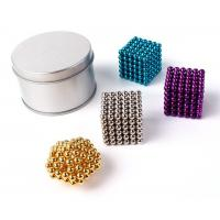 Wholesale Colorful Coating Custom Neodymium Magnets , N35 Bucky Toy Neodymium Sphere Magnet from china suppliers