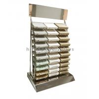 Wholesale Custom Countertop Metal Wire 30 Piece of  Marble Tiles Display Racks from china suppliers