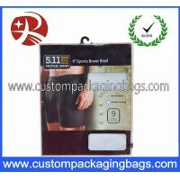 Wholesale Custom Colorful Printed Plastic Hanger Bags For Packing Underwear from china suppliers
