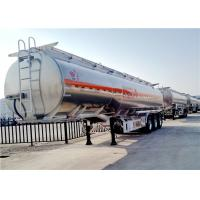 Wholesale Aluminum Alloy Fuel Tanker Truck Trailer  3 Axle 42000L 42cbm Oil Transport Tank Trailer from china suppliers