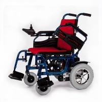 Wholesale Durable Aluminum Indoor Electric Wheelchair Hire OEM ODM With Red Cushion from china suppliers