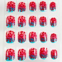 Wholesale Fashionable Girls Cracking Nails Custom 3D False Fingernails Red Blue from china suppliers