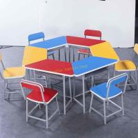 Wholesale Durable Amusement Colorful Student Desk And Chair Set / Kids School Table from china suppliers