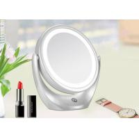 China White Two Sided Magnifying Makeup Mirror 360 Degree Rotation CE ROHS FCC on sale