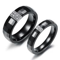 Wholesale New Super Fashion Tagor Jewelry Factory Ceramic Tungsten Series couple Rings TYWR060 from china suppliers