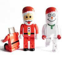 Wholesale Red Santa Claus Unique Plastic USB Flash Drive For Christmas Gift from china suppliers
