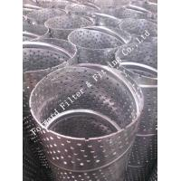 Quality Mild Steel Perforated Metal Tube For Oil Well , High Speed Hole Punching for sale