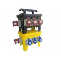 Wholesale 12 Poles Mobile Power Distribution Box, Black Industrial Temp Power Spider Box from china suppliers