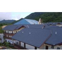 Quality Colorful Stone Coated Metal Roofing Sheets Tile Villa Building Material Base On GI GL Steel 1340 and 420mm for sale
