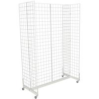 Wholesale Mobile Wheeled Retail Display Racks Grocery Store Shelving Powder Coated from china suppliers