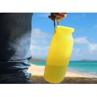 Wholesale Portable Outdoor Travel bpa free silicone collapsible water bottle 600Ml from china suppliers