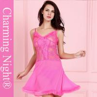 Wholesale Fur Mesh Skirt Front Lace Sexy Night Dress Lingerie Underwear Transparent from china suppliers