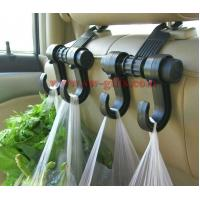 Wholesale New Double Auto Car Back Seat Headrest Hanger Holder Hooks Clips For Bag Purse Cloth Grocery Automobile Accessories from china suppliers