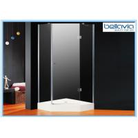 Wholesale Tempered Glass Hinged Door Shower Enclosures Frameless 1850mm Height from china suppliers