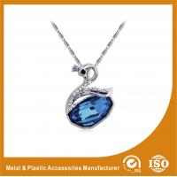 Wholesale Blue Crystal Goose Rhinestone Chain Necklace , Fashion Jewelry Necklace from china suppliers