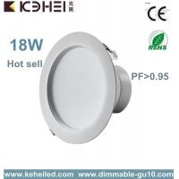 Wholesale 18w High Efficiency 75lm / w 6'' led downlight dimmable With Ce Internal Driver from china suppliers
