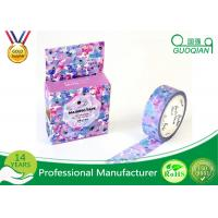 Quality Flower Decorative Stationery Japanese Washi Tape , Adhesive Custom Printed Washi Tape for sale