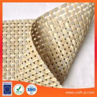 Wholesale light rattan color Textilene mesh fabric for sun lounger outdoor chair fabric 4X4 woven from china suppliers