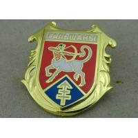 Wholesale Brass Hard Enamel Army Pin Die Stamped 3D Enamel Brooch Badge Stamped from china suppliers