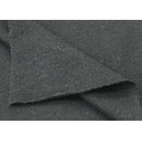 Yarn Dyed Black Color 100% Merino Boiled Wool Fabric For Overcoats