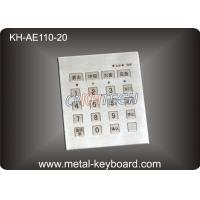 Wholesale Vandal Proof Stainless steel Keyboard with 20 Keys , Door Entry Keypad from china suppliers