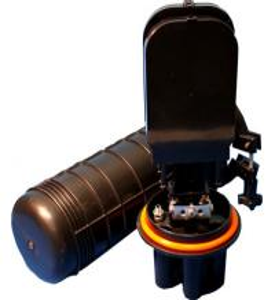 Quality Dome Waterproof Vertical Fiber Optic Devices , Fiber Optic Splice Closure 24 48 96 Core for sale