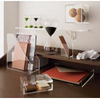 Wholesale Transparent desk top Acrylic Storage Boxes Light weight for office from china suppliers