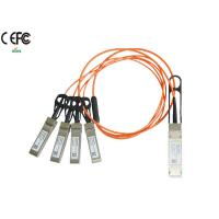 Wholesale 1 Meter 40G Breakout AOC Cable QSFP to SFP+ Fiber Cable OM1 OM2 from china suppliers