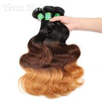 Wholesale Three Tone Natural European Remy Hair Extensions Double Drawn Weft from china suppliers