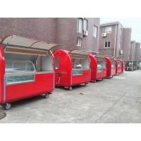 Wholesale Round Shape Strong Stainless Steel Mobile Food Cart With Wheels from china suppliers