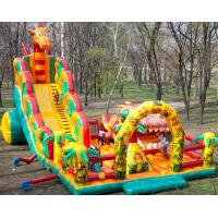 Wholesale Outdoor Inflatable Fun City With Slide, Inflatable Chilren Fun Land Games from china suppliers
