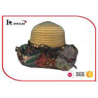Wholesale Spring Summer Hats For Women / Ladies  , Wooden Decoration Wide Brim Hat from china suppliers