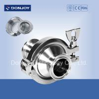 Buy cheap Threaded check valve with middle clamp 1 inch SMS RJT ISO IDF thread connection from wholesalers