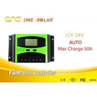 Wholesale Smart Solar Controller 12v/24v 50A Solar Panel Controller Intelligent Controller from china suppliers