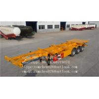 Wholesale Shipping Container Trailer Chassis , Air Suspension 30 - 45T  Semi Trailer Truck from china suppliers