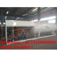 Wholesale 2017s bottom price CLW brand 10,000L mobile skid lpg gas station, skid lpg gas tank with digital scale for gas cylinder from china suppliers